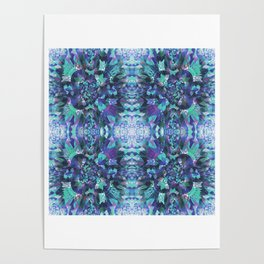 Abstract Floral Burst Poster