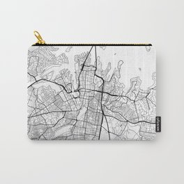 Sydney Map White Carry-All Pouch