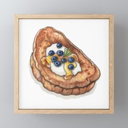 Breakfast & Brunch: French Toast Framed Mini Art Print