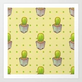 Small green cactus Art Print