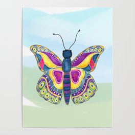 Butterfly III on a Summer Day Poster