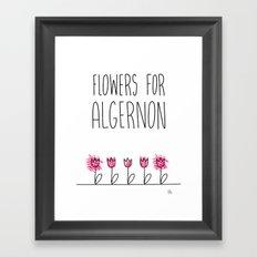 Daniel Keyes: Flowers for Algernon Framed Art Print