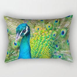 Beautiful Peacock (Color) Rectangular Pillow