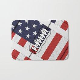 4th of July American Football Fanatic Bath Mat