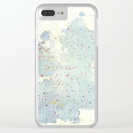 Splodge Splatter Clear iPhone Case
