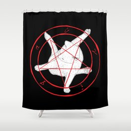 EVERY TIME A CAT CLEANS ITSELF... (art only) Shower Curtain