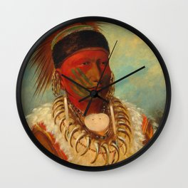 The White Cloud, Head Chief of the Iowas, Catlin Wall Clock