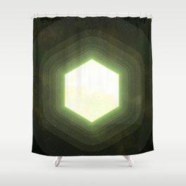 Earth II Hexahedron Shower Curtain