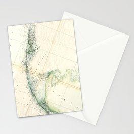 Vintage Map of The Florida Keys (1859) Stationery Cards