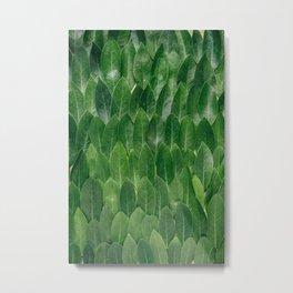 Leafy Wall Metal Print