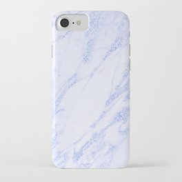 Blue Marble - Shimmery Glittery Cornflower Sky Blue Marble Metallic iPhone Case