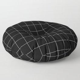Black Grid /// pencilmeinstationery.com Floor Pillow