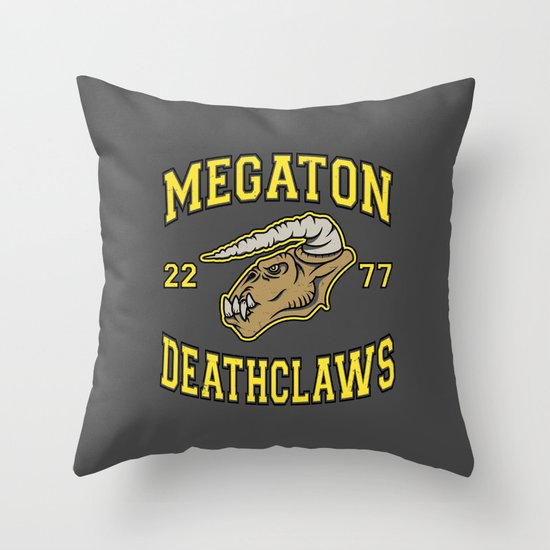 Megaton Deathclaws Throw Pillow