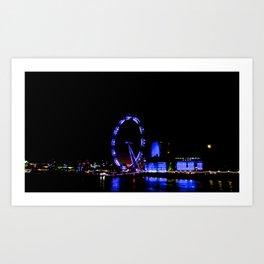 London By Night: The Eye Art Print