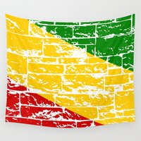 flag Wall Tapestries featuring Rastafari Flag by mailboxdisco