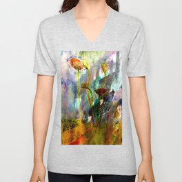flowers on the field Unisex V-Neck