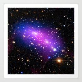 Colliding Galaxies Art Print
