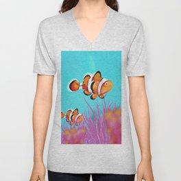 Clown Fish Aquarium Unisex V-Neck