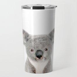 Baby Koala Portrait Travel Mug