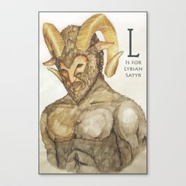 L is for Libyan Satyr Canvas Print