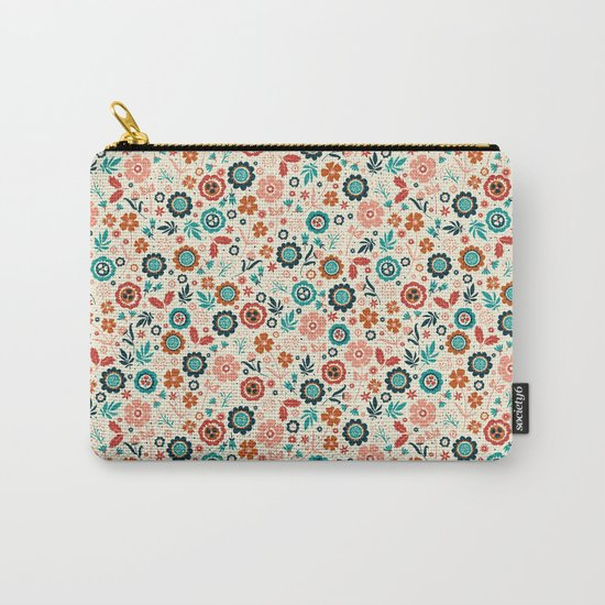 Folk Flowers Carry-All Pouch