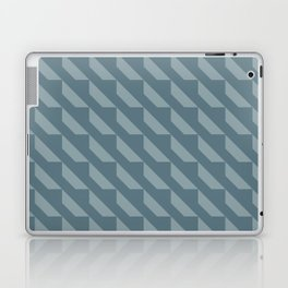 Simple Geometric Pattern 4 in Teal Laptop & iPad Skin