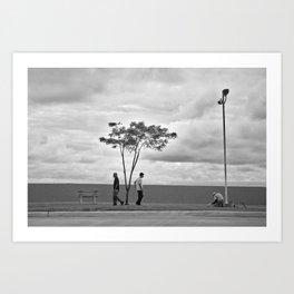 Street photography, Calidonia, Panama Art Print