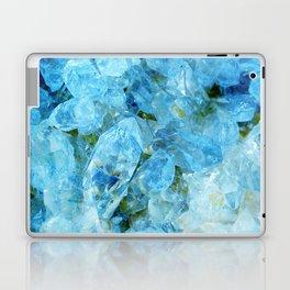 Blue Crystal Geode Art Laptop & iPad Skin