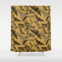 bats Shower Curtains featuring Bats by Deborah Panesar Illustration