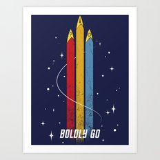 Star Trek - Boldly Go Art Print