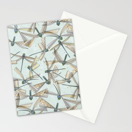 watercolor dragonflies Stationery Cards
