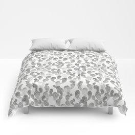 GRAY TRYPOPHOBIA, cactus pattern by Frank-Joseph Comforters