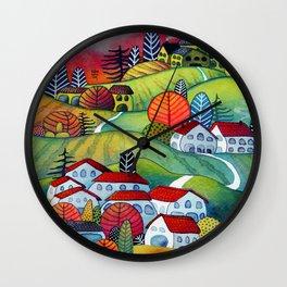 Monferrato landscape Wall Clock