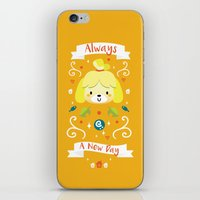 animal crossing iPhone & iPod Skins featuring Animal Crossing: Isabelle by Anth Rodi