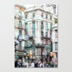 Barceona in pastel colors Canvas Print