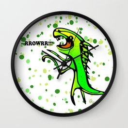 The Dinosaur says... RRRROOOWWRRR! Wall Clock