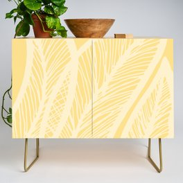 Golden Yellow Banana Leaves Credenza
