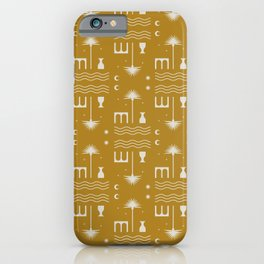 Gold Oasis iPhone Case