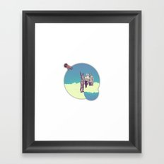 //look! Framed Art Print