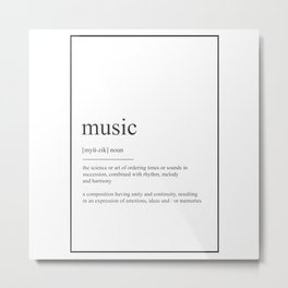 Music 415 Watercolor Map Yoga Quote Definition Des Metal Print