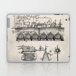 Brewing Beer Patent - Beer Art - Antique Laptop & iPad Skin