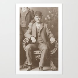 Butch Cassidy - Outlaw Portrait Art Print