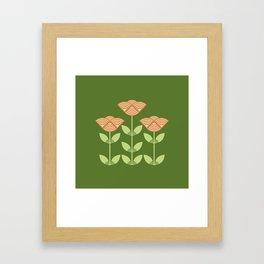 Three Japanese style flowers Framed Art Print