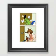 KINGDOM HEARTS: WINNIE THE POOP Framed Art Print