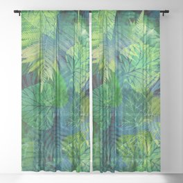 Forest Flora 8 Sheer Curtain