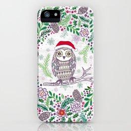 Owl Wreath iPhone Case