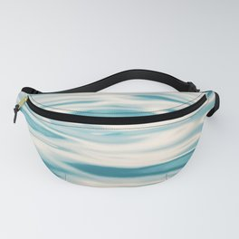 Water Ripple Ocean Photography, Sea Ripples Aqua Blue, Turquoise Teal Beach Abstract Seascape Nature Fanny Pack