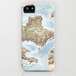 Belthennia - a map of its Independent Territories iPhone Case