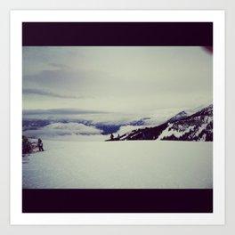 mountain snow winter wonderland Art Print