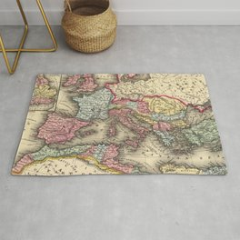 Vintage Map of The Roman Empire (1873) Rug